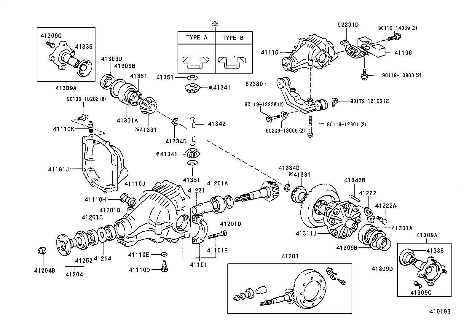 9031135032 Toyota Sienna Rear Differential Support